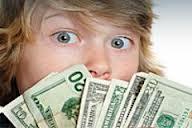 Boy with money