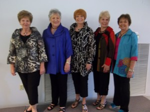 Rose Teer, Mert Heiman, Shirley Rudolph, Jean Rumps LaJoyce Doran Bay Boutique.             Photos by Willa Wells