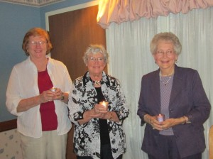 Mickey Roberts,Vice President, Betty Vagedes, Treasurer and Janet Small President.