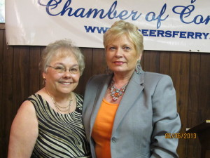 Pictured above right, Greers Ferry Chamber President, Jo Ann Wanat and Dara Samuels director for Cleburne County Office of Economic Development.