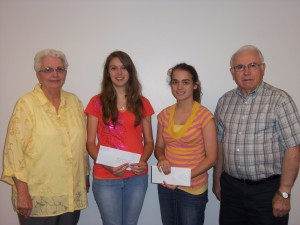 Pictured above, L to R:  Betty Oliger, Holly Treece, Clinton; Lacie Holland, South Side; and George Condray.  Not Pictured:  Nickolas Mattson, Shirley.
