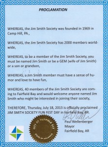 Jim Smith Proclamation