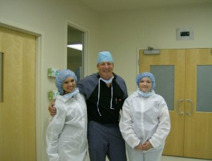 pictured above; MASH students pose with Dr. Steve Schoettle outside an Ozark Health Operating Room.