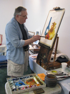 Artist Richard Stephens presented a watercolor demonstration at his recent workshop in Fairfield Bay.