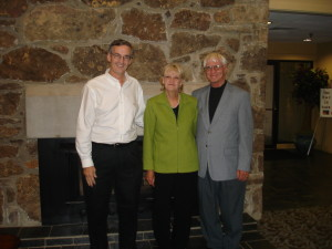 Shown in the Photo left to right – Mayor Paul Wellenberger, Rebecca and Brian Moore.