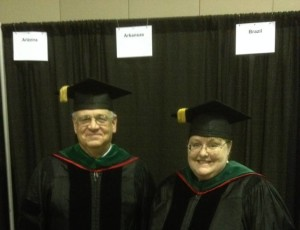 Pictured at the national ACP Convocation in Orlando, FL, April  Arkansas ACP new Fellows, John Holston MD (Searcy) and Stacy Zimmerman MD (Clinton).
