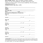 Aug. 2014 EXHIBIT ENTRY FORMS