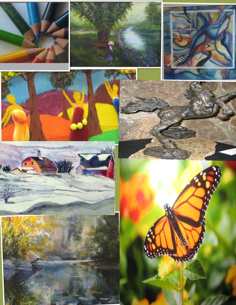 Colllage of artwork NCA Art Gallery