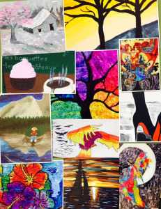 Geers Ferry High Art Exhibit  Collage