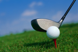 Close-up of Golf Club and Golf Ball