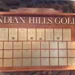 Indian Hills Award Board