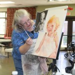 Artist League Held Portrait  Painting Workshop