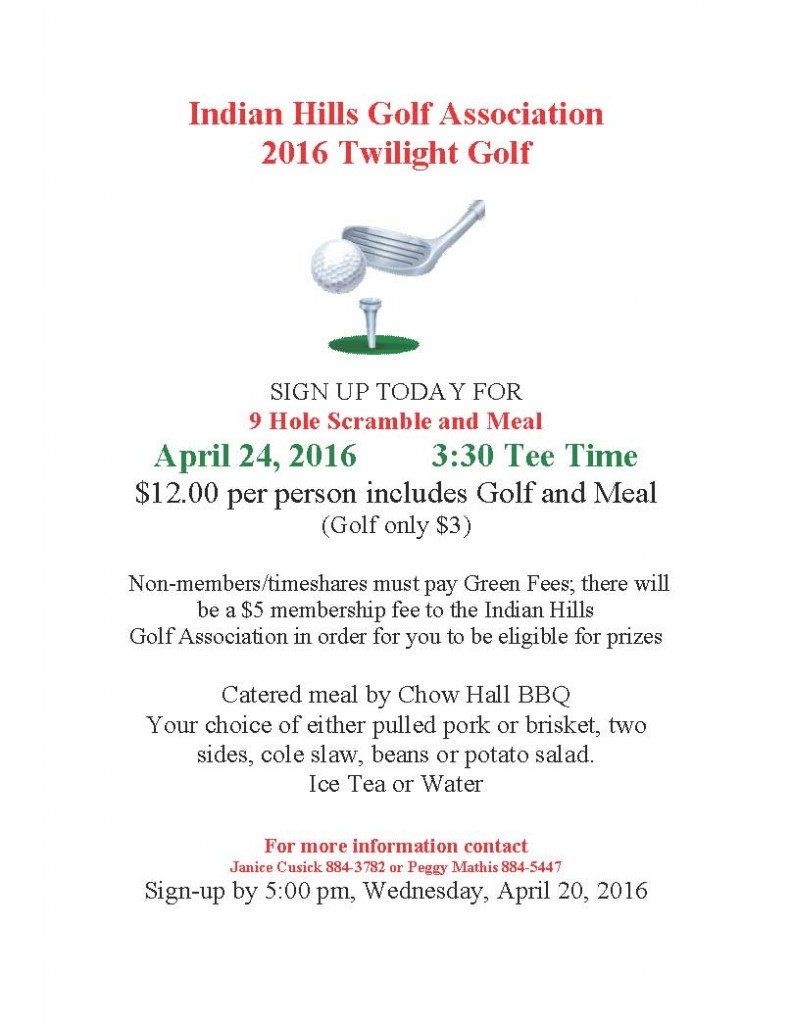 Twilight Golf Poster 2016