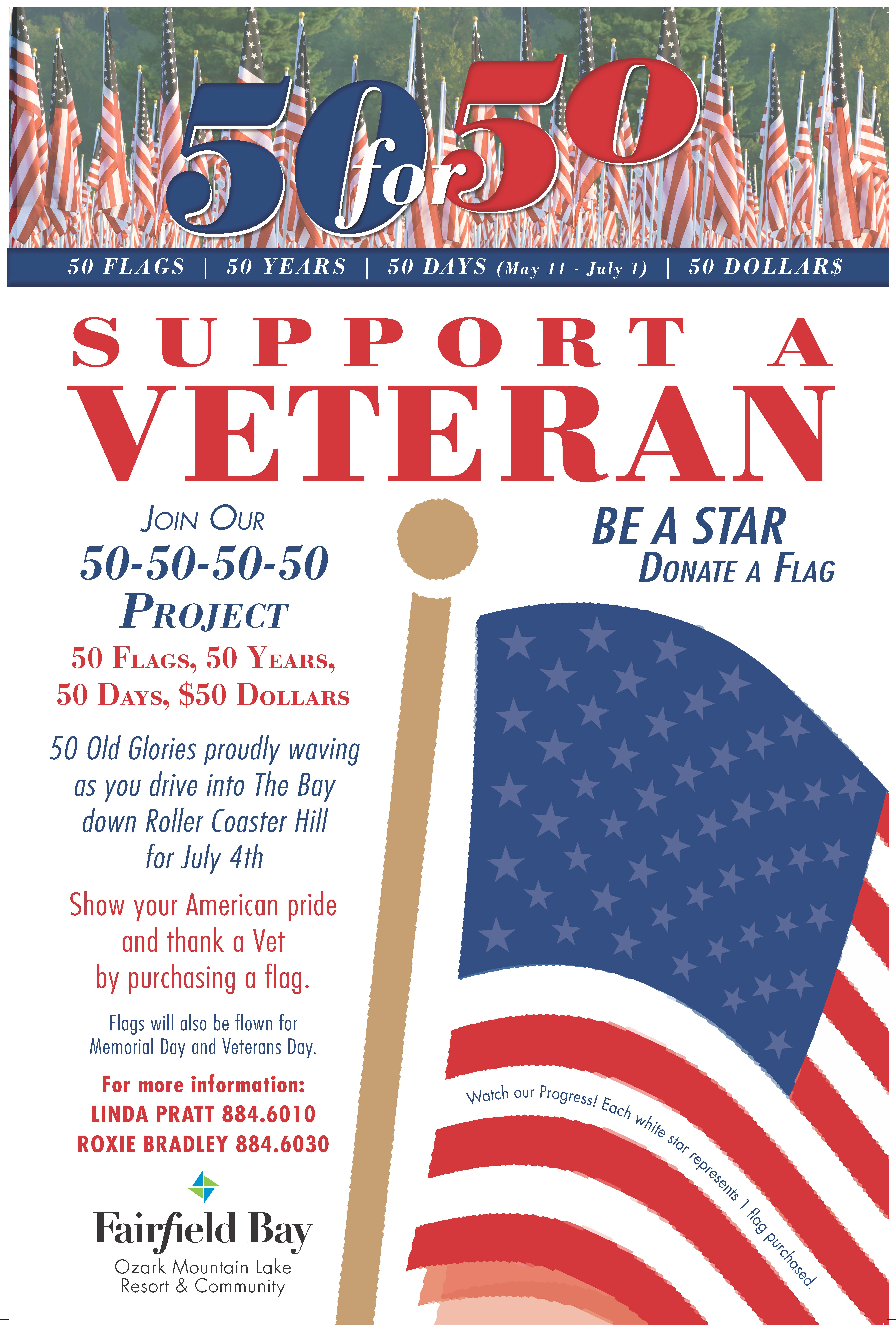 Now YOU Can Help to Honor and Support our Veterans
