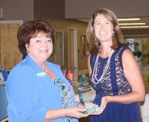 Pictured is Cheryl Ragland & Tawny Basinger representing First Security Bank.