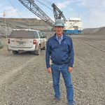 Fred herman Visits Coal Mine in Wyoming