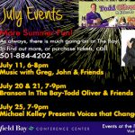July Conference Center Events